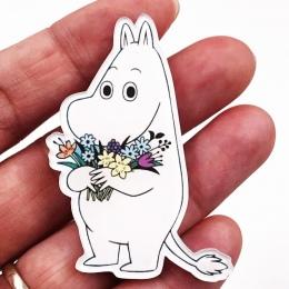 1 sztuk Piękny Cartoon Akrylowe Hippo Konia Broszka Odzież Ikona Plecak Akcesoria Odznaki Dekoracji Broszki Pin Dla Kobiet