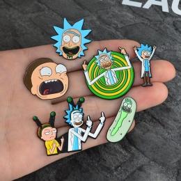 Panna Zoe Rick i Morty Klasyczne Kreskówki ikony Stylu Szkliwa pin Badge Przyciski Broszka Anime Miłośników Koszula Kurtka Dżins