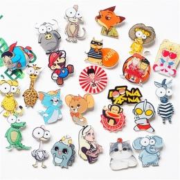 1 sztuk Cartoon Małpa Cute Zebra Mysz Alicja Akrylowe Broszka Odznaki Plecak Ubrania ikona Dekoracje Broszki Pins Dla Kobiet/ mę