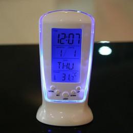 Zegary mrożone Led zegar cyfrowy Despertador zegar na biurko lampki nocne budzik elektroniczny zegarek kwadratowych prezent dla