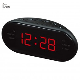 AsyPets nowe mody nowoczesne AM/FM LED radio z budzikiem elektronicznych budzik biurkowy tablica cyfrowa zegary funkcja drzemki-