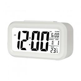 1 sztuk LED cyfrowy budzik zegar elektroniczny wyciszenie podświetlenie wyświetlacz temperatury i kalendarz funkcja drzemki budz