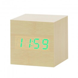 LED budzik drewniany zegarek stół sterowanie głosem cyfrowy drewno Despertador elektroniczny pulpit USB/AAA zasilany zegary wyst