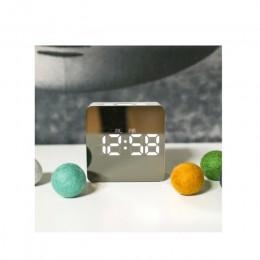 Lipiec SONG cyfrowy lustro budzik led lampki nocne termometr ścienny lampa z zegarem kwadratowy prostokąt wielofunkcyjne zegary