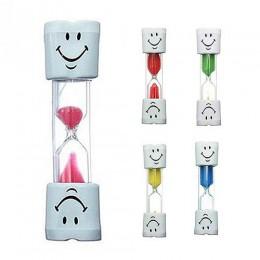Dzieci dzieci szczotkowanie zębów Timer 2 minuty uśmiechnięta twarz klepsydra klepsydra