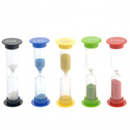 5 sztuk 30 sekund/1 minuta/3 minuty/5 minut/10 minut kolorowe klepsydra klepsydra klepsydra zegary (losowy kolor)