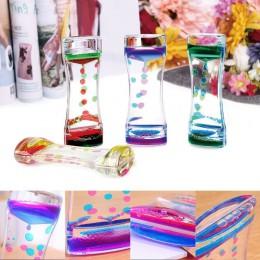 Pływający kolor mieszanka Illusion zegar płyn Motion Visual Slim płynny olej szkło akrylowe zegar z klepsydrą zegar Ornament dek