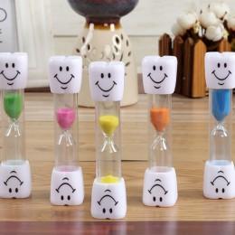 Cartoon 3Min Mini klepsydra na prysznic zegar/szczotkowanie zębów zegar z przyssawką klepsydry smile twarzy zegar nowy 2020