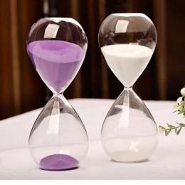 30 minut przezroczyste szkło piasku klepsydra kreatywne klepsydra timer zegar odliczania, walentynki prezenty wystrój domu