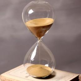 60 minut czas klepsydra wysokość 24cm kreatywny prezent szklana klepsydra klepsydra złoty piasek do dekoracji domu reloj de aren