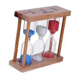 1/3/5 minut rama z drewna klepsydra klepsydra piasek zegar losowy kolor do domu tabeli herbata dekoracji zabawki boże narodzenie