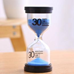 1 pc strona główna ozdoba pulpit klepsydra timery 10 minut/15 minut/30 minut zegar z klepsydrą dla dzieci szczotka zęby