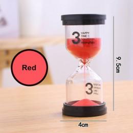 Klepsydra 1/3/5/10/15/30 minut zegar minut zegarek z piasku zegar jedną godzinę 45 minut prezent zegar akcesoria do dekoracji do