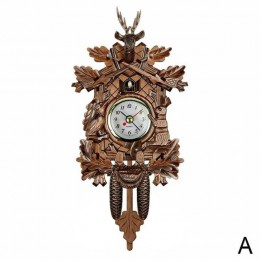 Kreatywny domu dekoracyjne ptak zegar ścienny wiszące drewno zegar z kukułką salon zegar wahadłowy akcesoria do dekoracji domu