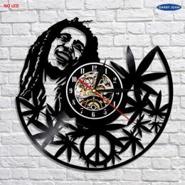 Bob Marley 3D kinkiet antyczne styl płyta winylowa światła salon Wall Art dekoracyjna lampa z zmiany kolorów