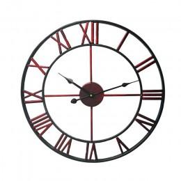 Zegar ścienny nowoczesny prosta konstrukcja kreatywny żelaza ściany zegarek do salonu Loft Cafe, cichy cyframi rzymskimi zegarek