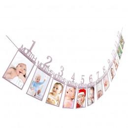 Zdjęcie dla dzieci prezent urodzinowy dekoracje 1-12 miesiąc zdjęcie Banner co miesiąc fototapeta 14X23 cm paź 2