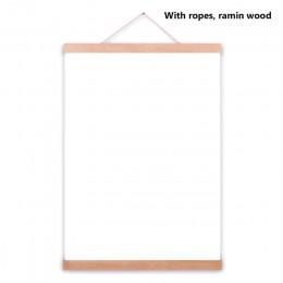 Drewniany plakat wieszak ramka na zdjęcia biały czarny DIY obraz na płótnie drukuj wiszące ścienne ozdoby do dekoracji wnętrz 21