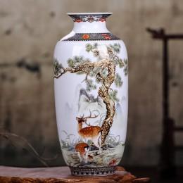 Jingdezhen ceramiczne wazy rocznika chiński styl zwierząt wazon dobrze gładka powierzchnia dekoracji wnętrz artykuły wyposażenia
