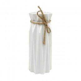 Origami wazon plastikowy biały imitacja ceramiczne doniczki kwiat sztuczny układ kwiat pojemnik dekoracje do domu na imprezę