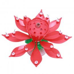 Formularz e-maila znajdą dekoracje na tort urodzinowy akcesoria DIY 14 świece lotosu z podwójnym obracającego się dysku (krótkie