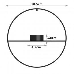 Metalowy Świecznik na ścianę uchwyt do montażu okrągły koło 3D