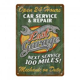 Silniki samochody osobowe ciężarówki autobus już dziś, serwis części Vintage metalowe tabliczki plakietka emaliowana płytki deko