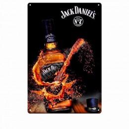 Jim whisky w stylu Vintage metalowa plakietka emaliowana Pub kasyno domu dekoracje barowe płyta Billboard malowanie zimne piwo w