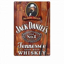 Jack wino whisky w stylu Vintage metalowa plakietka emaliowana Pub Bar kasyno wystrój domu piwo reklama płyta malarstwo plakat n