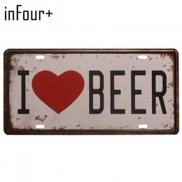 Nowy gorący bubel piwo grupa płyta metalowa płytka numer samochodu znak blaszany Bar Pub Cafe Home Decor metalowy znak garaż mal