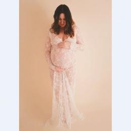 2017 ubrania koronki macierzyństwa ciążowa ciąża fotografia rekwizyty maxi dress fancy fotografowania zdjęcia lato w ciąży dress