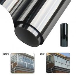 200*50CM wodoodporna folia okienna lustro półprzepuszczalne srebrny izolacji naklejki odrzucenie UV prywatności Windom odcień fo