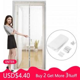 Wyprzedaż lato przeciw komarom owady muchy robaki zasłony netto automatyczne zamykanie moskitiera do drzwi zasłona kuchenna Drop