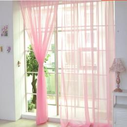 Kurtyna czysty kolor Tulle drzwi okno zasłony zasłony Panel Sheer szalik lambrekiny nowoczesne sypialnia zasłony do salonu Corti