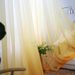 Zasłony gradient woal z nadrukiem szare okno nowoczesne zasłony do salonu tiul przezroczyste tkaniny Rideaux Cortina T & 185 30