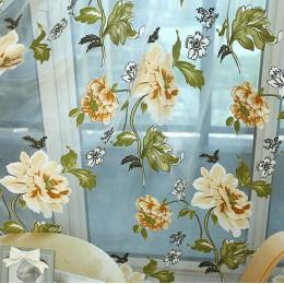 NAPEARL nowa klasyczna klasyczny kwiat zasłony okna pokaz dostosować produkty gotowe fioletowy zasłona tiulowa