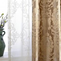 Europejski adamaszku zasłony do salonu luksusowe żakardowe zasłony niewidomych panel okienny tkaniny zasłony do sypialni cieniow