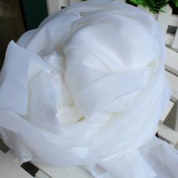Biały zasłony jednolity biały Tulle nowoczesne zasłony do salonu prześwitujące zasłony z tiulu okno Sheer do sypialni 184 & 30