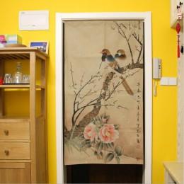 XIAOKENAI 85x120 cm 85x150 cm tradycyjny chiński drzwi dekoracyjne kurtyny zasłony wystrój domu dzielnik do sypialni kuchnia