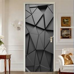 Drzwi naklejki ścienne DIY 3D ścienne do salonu sypialnia plakat dekoracyjny do domu pcv samoprzylepne wodoodporne kreatywne nak