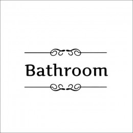 3D drzwi naklejki łazienka tapety wystrój drzwi wc winylowa tablica naścienna Transfer zabytkowa dekoracja cytat do drzwi naklej