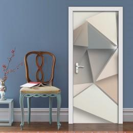 2 sztuk/zestaw kreatywny geometryczny wzór naklejki na drzwi dekoracyjna tapeta do domu pcv wodoodporne drzwi do sypialni naklej