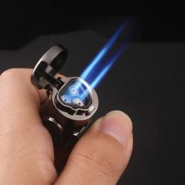 Widoczne gazu niebieski zapalniczka zapalniczki Turbo w sprayu pistolet elektroniczny zapalniczka gazowa lżejsze 1300C butan pap