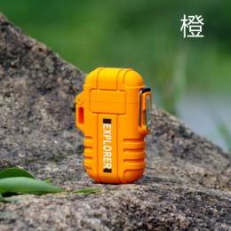 Explorer użytku na zewnątrz wodoodporna wiatroszczelna podwójna Arc Pulse w osoczu palenie papierosów zapalniczki USB ładowania
