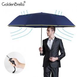 120CM w pełni automatyczne podwójne duży parasol deszcz kobiety 3 składane odporny na wiatr, odporny na duży parasol mężczyźni p