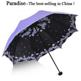 Jakość składany Parasol dla kobiet marka podróży anty-uv wiatroodporny deszcz kwiat Modish kobieta słońce dziewczyna Parasol par
