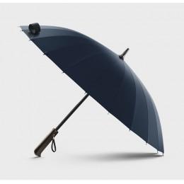 Hot sprzedaż marka deszcz parasol mężczyźni jakości 24K silne wiatroszczelna z włókna szklanego rama drewniana długa rączka para