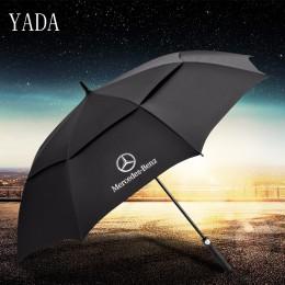 Bla bla długie podwójne Mercedes-Benz parasol automatyczny deszcz uv wysokiej jakości składany parasol samochód dla kobiety mężc