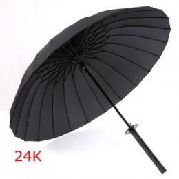 GQIYIBBEI kreatywny długi uchwyt duży wiatroszczelny miecz samuraja parasol japoński ninja-jak słońce deszcz prosty parasol inst