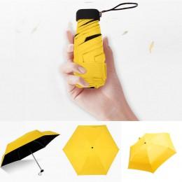 Deszczowy dzień Parasol kieszonkowy Mini składane parasole słoneczne Parasol słońce składany Parasol Mini Parasol cukierki kolor